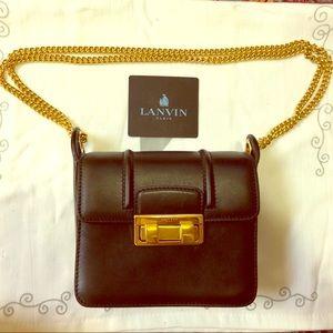Lanvin mini Jiji shoulder bag, black and gold
